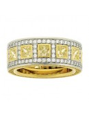 "PLATINUM ""ORIENTAL"" STYLE DIAMOND BAND"
